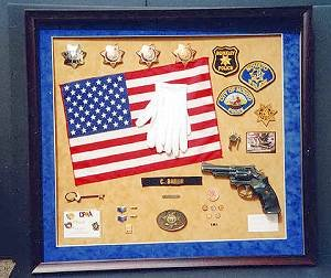 Example of police / military reitrement shadow box.