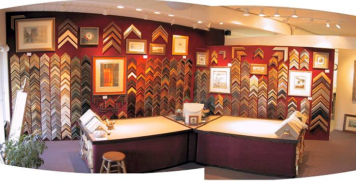 Our custom matting and framing shop is located in downtown Novato, CA.