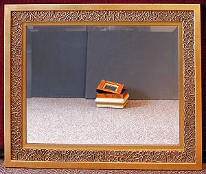Mirror with custom frame.
